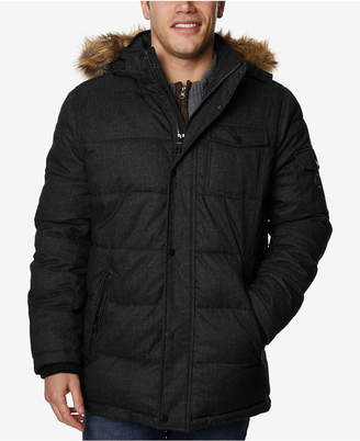 Nautica Men's Commuter Parka with Faux-Fur Trimmed Hood