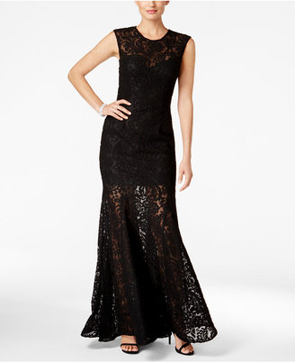 Betsy & Adam Open-Back Lace Mermaid Gown $269 thestylecure.com