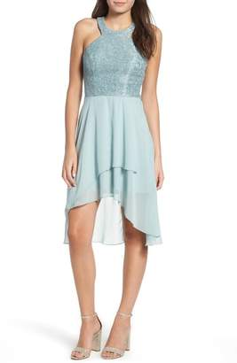Speechless Lace High/Low Dress