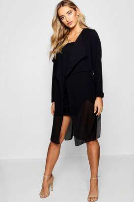 boohoo Mixed Chiffon Waterfall Duster