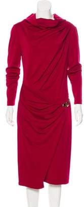 Salvatore Ferragamo Wool Bodycon Long Sleeve Sweater Dress