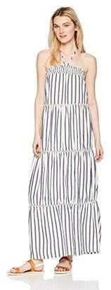 Miss Me Junior's Halter Striped Maxi Dress
