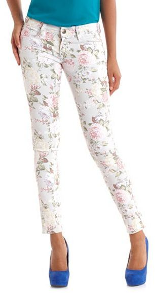 Hot Kiss Garden Floral Skinny Jean