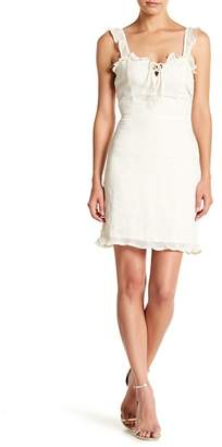 Dee Elly Embroidered Star Ruffle Dress