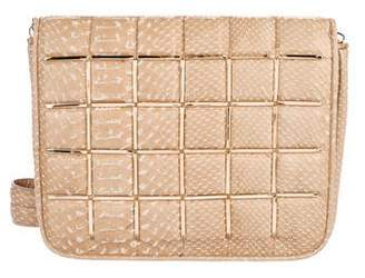 Herve Leger Embossed Quilted Leather Elsa Bag
