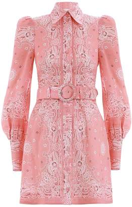 Zimmermann Heathers Bandana Shirt Dress