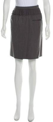 Louis Vuitton Pleated Wool Skirt