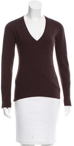 Agnona Agnona Rib Knit V-Neck Sweater