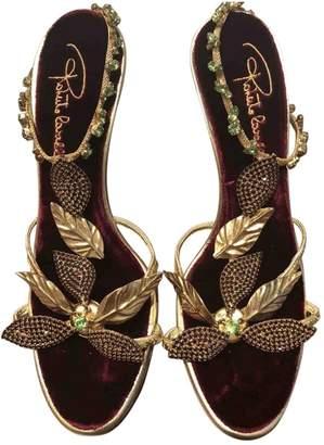 Roberto Cavalli Leather sandal