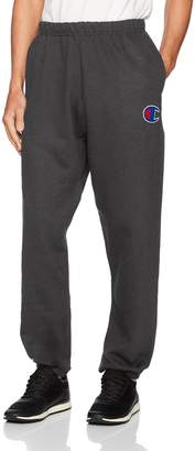 Champion Life Men's Reverse Weave Pants with Pockets, Granite Heather/Big C Left Chest, X Large