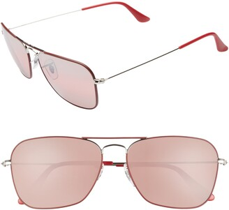 Ray-Ban 58mm Polarized Tinted Aviator Sunglasses