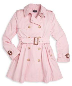 Ralph Lauren Girl's Trench Coat $150 thestylecure.com