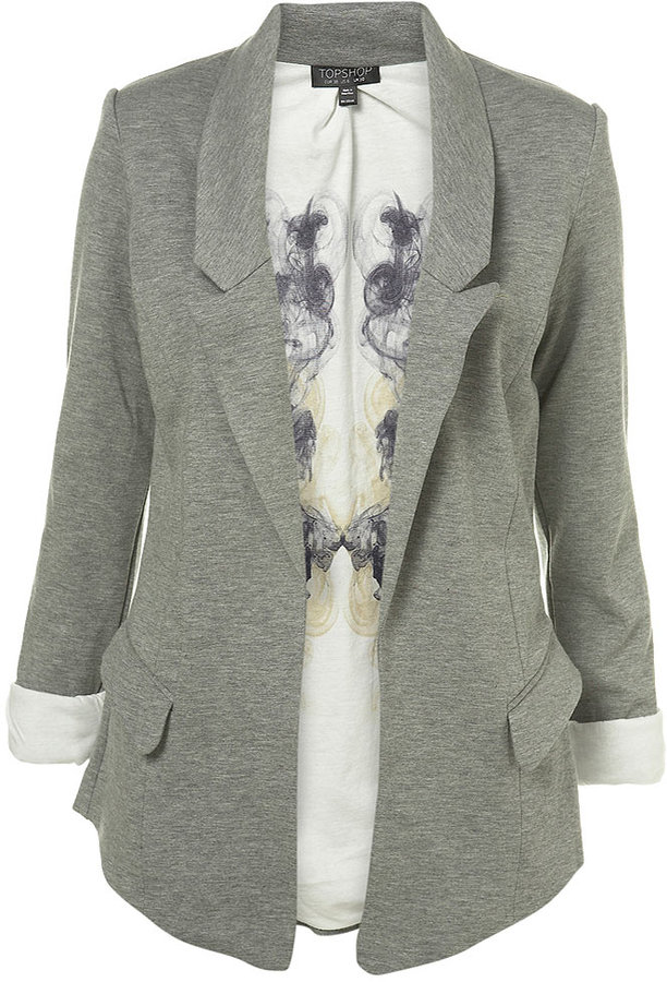 Printed Lining Jersey Blazer