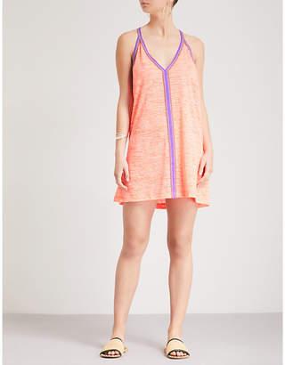 Pitusa Ladies Coral Pink Mini Jersey Sundress