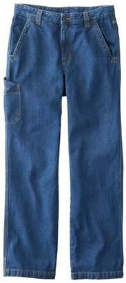 L.L. Bean L.L.Bean Men's Katahdin Iron Works Utility Pant, Natural Fit, Denim