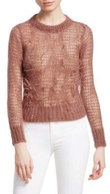 No.21 No. 21 Sheer Feather Knit Sweater