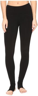 Hard Tail - Flat Waist Stirrup Leggings Women's Casual Pants $64 thestylecure.com