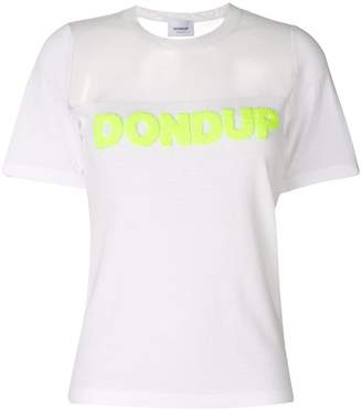 Dondup sheer panel T-shirt