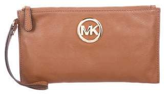 MICHAEL Michael Kors Logo Leather Clutch