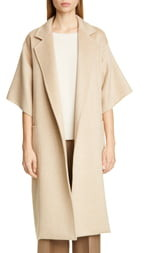 Max Mara Ruta Double Face Cashmere & Camel Hair Wrap Coat