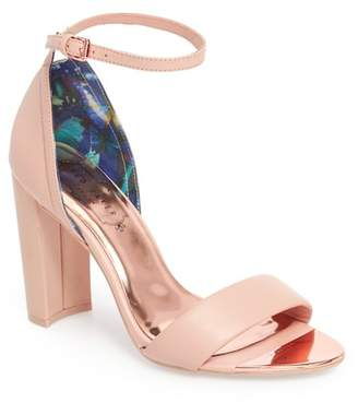 Ted Baker Phanda Leather Ankle Strap Sandal