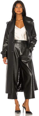 ANOUKI Double Sided Faux Leather Sequin Trench