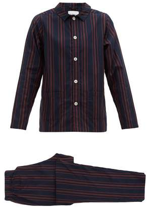 Nufferton - Uno Striped Cotton Pyjamas - Mens - Navy Multi