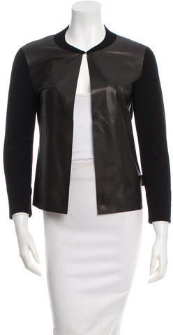 MonclerMoncler Leather-Trimmed Cardigan