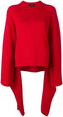 Joseph oversized asymmetric sweater