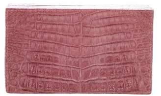 Nancy Gonzalez Crocodile Box Clutch w/ Tags