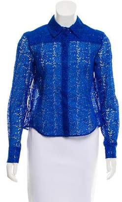 Tanya Taylor Eyelet Button-Up Top