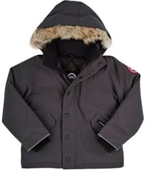 Canada Goose Men's Logan Tech-Fabric Youth Parka-GREY $545 thestylecure.com