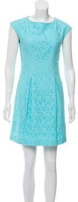 John Galliano Sleeveless Lace Mini Dress