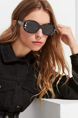 Urban Outfitters Pearl Oversized Oval Sunglasses