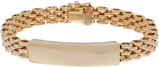 "Italian Gold 6-3/4"" Panther ID Station Bracelet, 14K 16.7g"