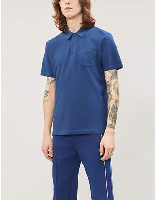 Sunspel Riviera cotton-mesh polo shirt