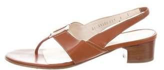 Salvatore Ferragamo Leather Thong Sandals