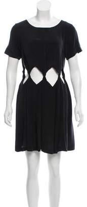 Samantha Pleet Silk Mini Dress