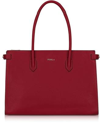 Furla Cherry Leather Pin Medium E/w Tote Bag
