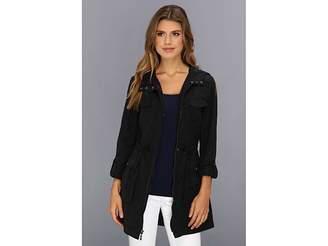 Cole Haan Packable 4 Pocket Zip Up Jacket With Hood Women's Jacket