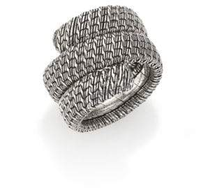 John Hardy Classic Chain Sterling Silver Double Coil Ring