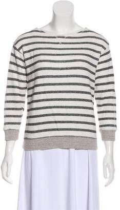 Steven Alan Striped Terry Cloth Sweatshirt