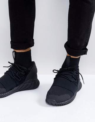 adidas Tubular Doom Primeknit Sneakers In Black Da9023