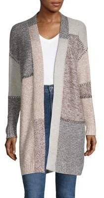 Style&Co. Style & Co. Wool-Blend Open Front Cardigan