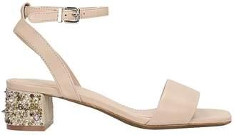 Lola Cruz Pink Suede Sandals