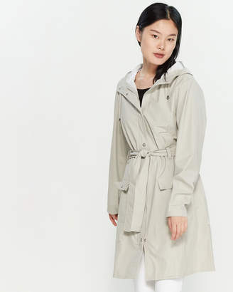 Rains Curve Belted Hooded Raincoat
