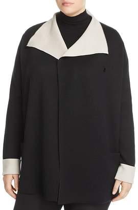 Marina Rinaldi Contrast Shawl Collar Cardigan