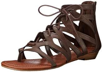 Rampage Women's Santini Cutout Lace-Up Open Toe Ankle Strap Gladiator Sandal