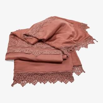Bella Notte Satin Blanket Rose Gold