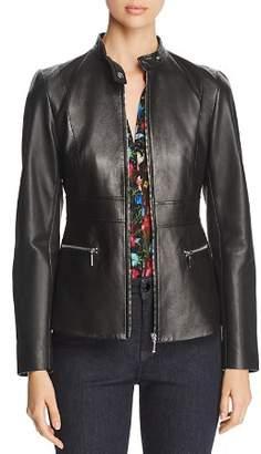 Elie Tahari Deepa Leather Jacket